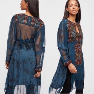 NWT Free People Market Place Embroidered Tunic XS